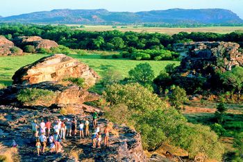 Breathtaking open scenic space  to be witnessed on top of Ubirr Rock Kakadu